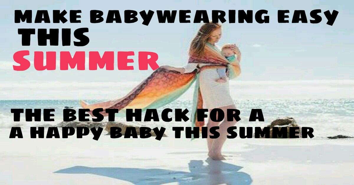 baby wearing in summer