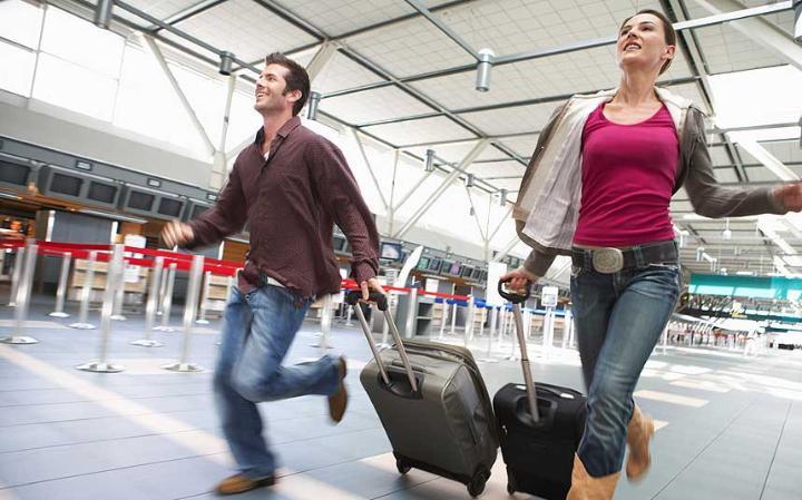 Passengers missing flights